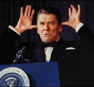 Ronald Reagan making a face